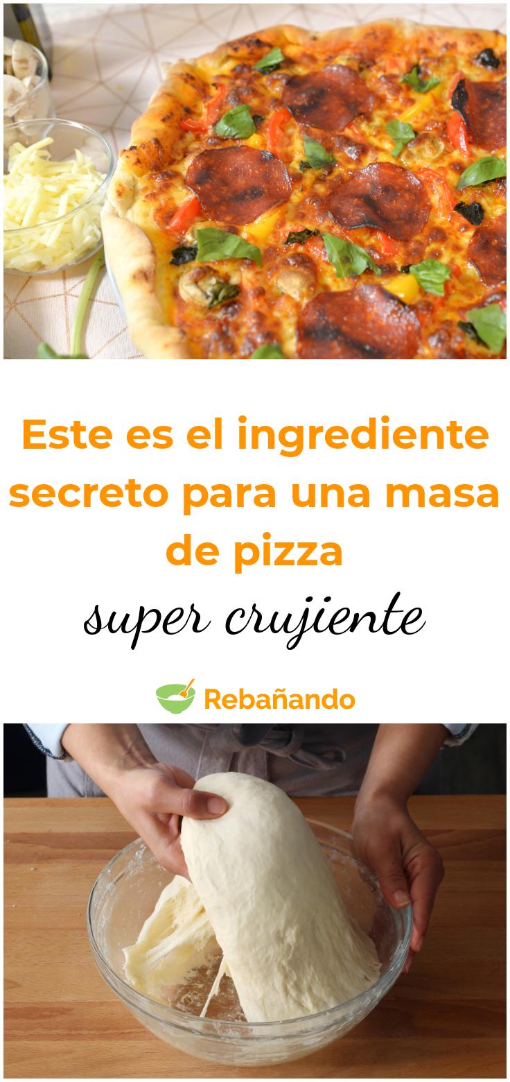 Pizza Super Crocante Hecha De Forma Ligera Masa Para Pizza Pizzas Caseras Receta Recetas De Pizza Gourmet