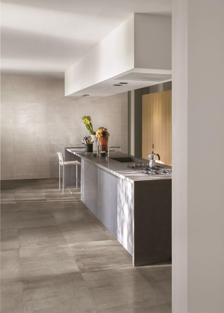FRAME losas ceramicas suelo cocina diseno ideas | Suelo Porcelánicos ...