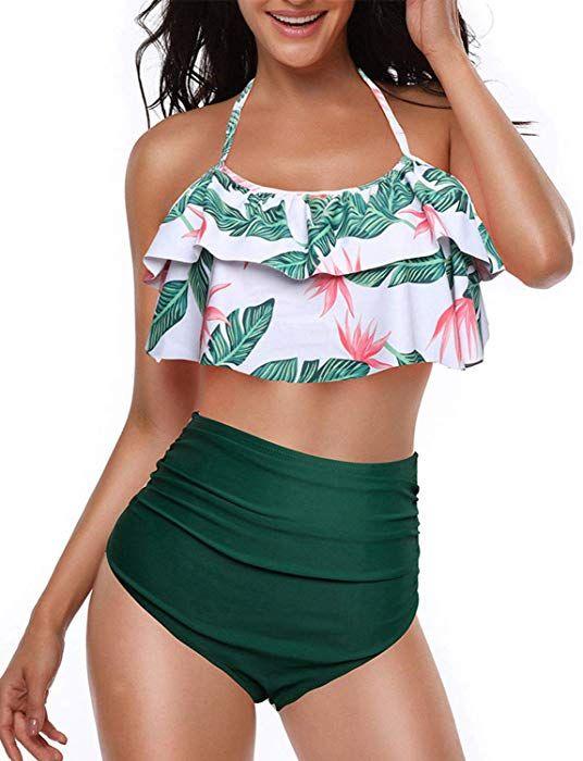 best value shop best sellers large discount Yuson Girl Femme Vintage Floral Dos Nu Maillot De Bain ...