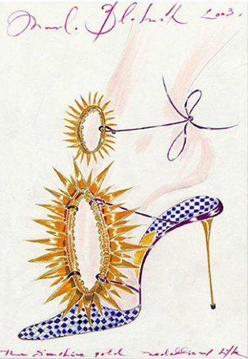 Manolo Blahnik Sketchbook Illustration