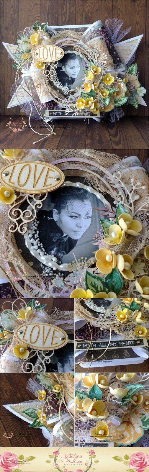 211. Vintage style bow card #Sandra'sScrapshop #Studio75 #egocraft #craftymoly #foamiranirland #americancrafts #KatararinaEwahandmade