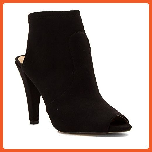 Women's Selina Open Toe Booties Black