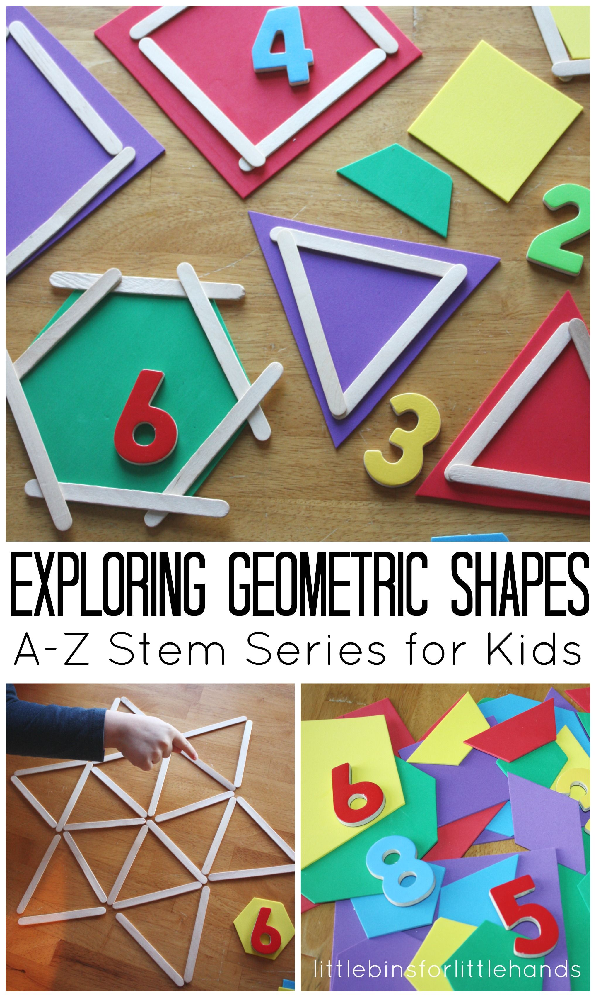 Geometric Shapes Math Activity for Kids Math activities