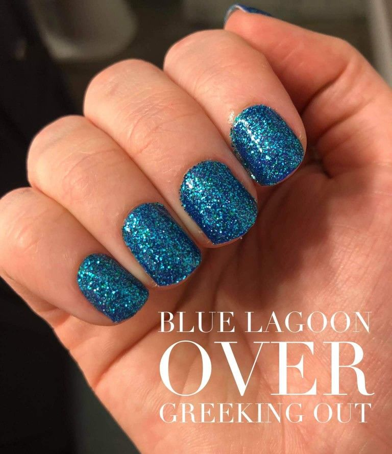 Gorgeous Manicure Color Street Nails Manicure And Pedicure Blue Glitter Nails