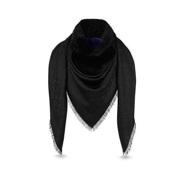 f5fe84e0e742 Châle fourrure Flowergram Femme Accessoires Écharpes et foulards   LOUIS  VUITTON