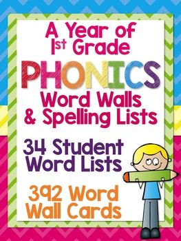 First Grade Spelling: Word Lists & Word Wall Cards | TpT Language