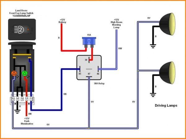 aux light wiring diagram 5 wire relay  trailer light wiring