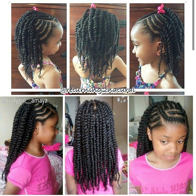 Cute Hairstyles For Girls Curlygirl Amaya Browngirlshair Naturalhairkids Hair Styles Natural Hair Styles Kids Hairstyles