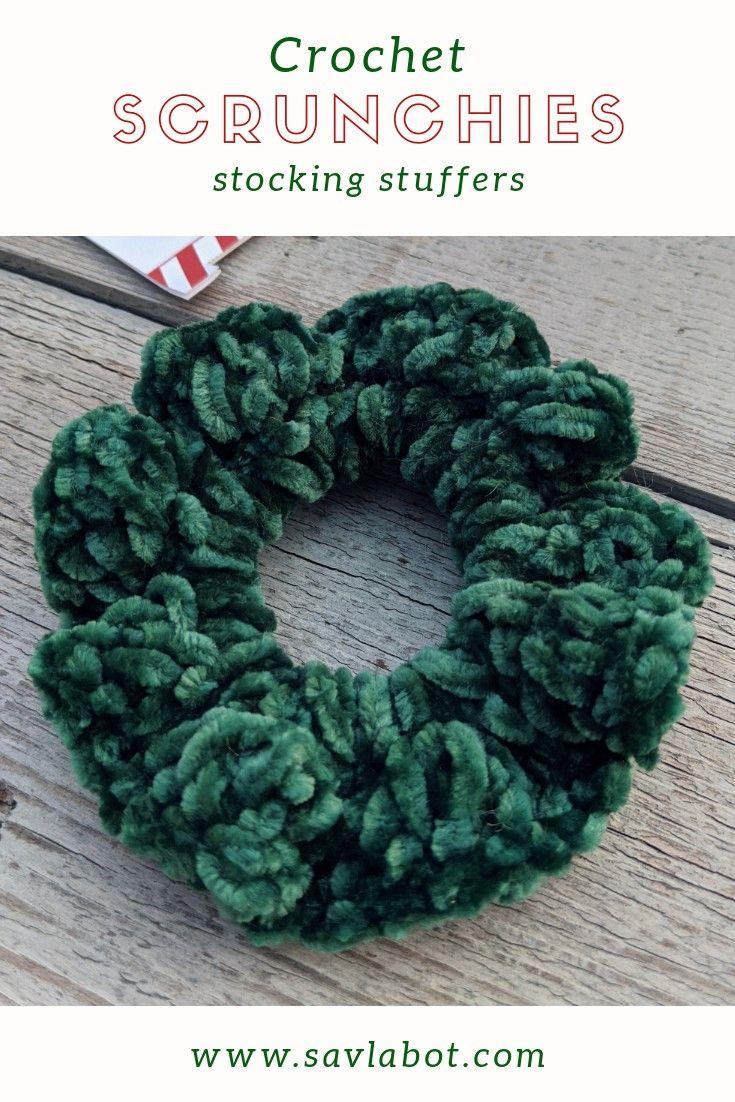 FREE Crochet Velvet #Scrunchies Video Tutorial