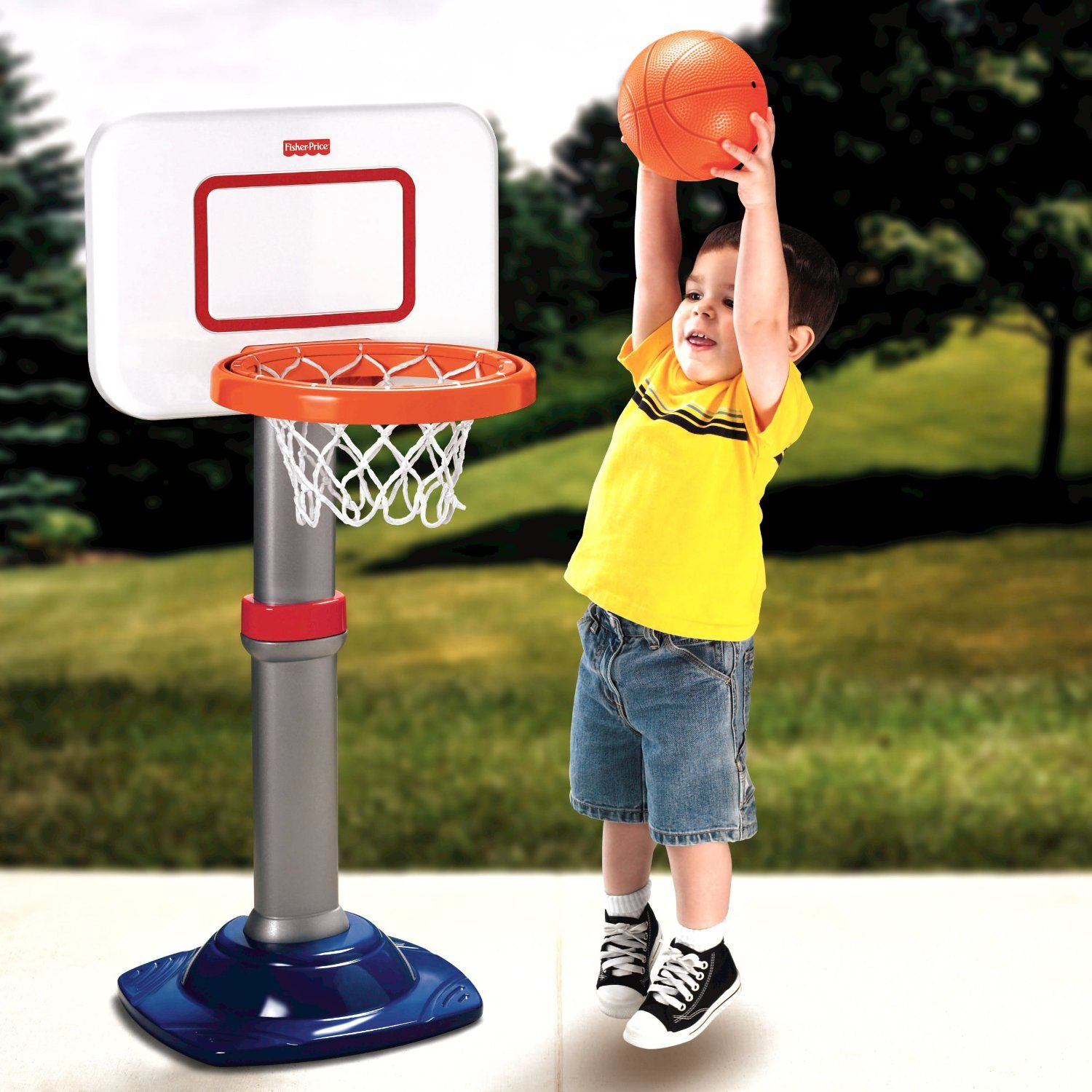 Amazon Fisher Price I Can Play Basketball Toys