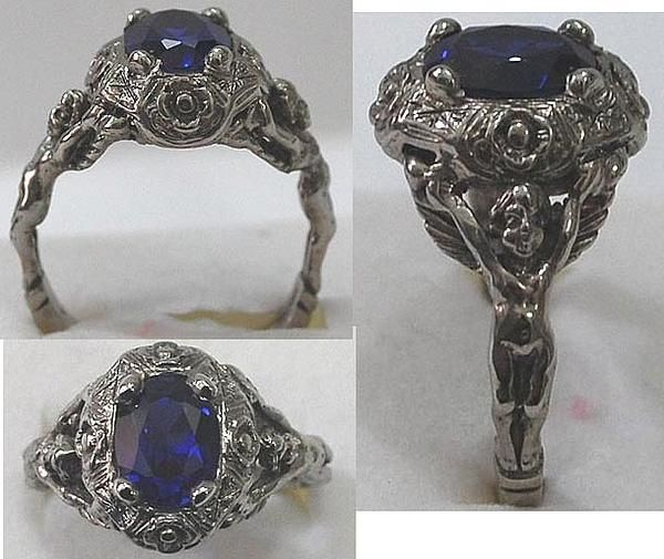 Old World Gothic Antique Style Rennaisance Mans Ring by Michelle