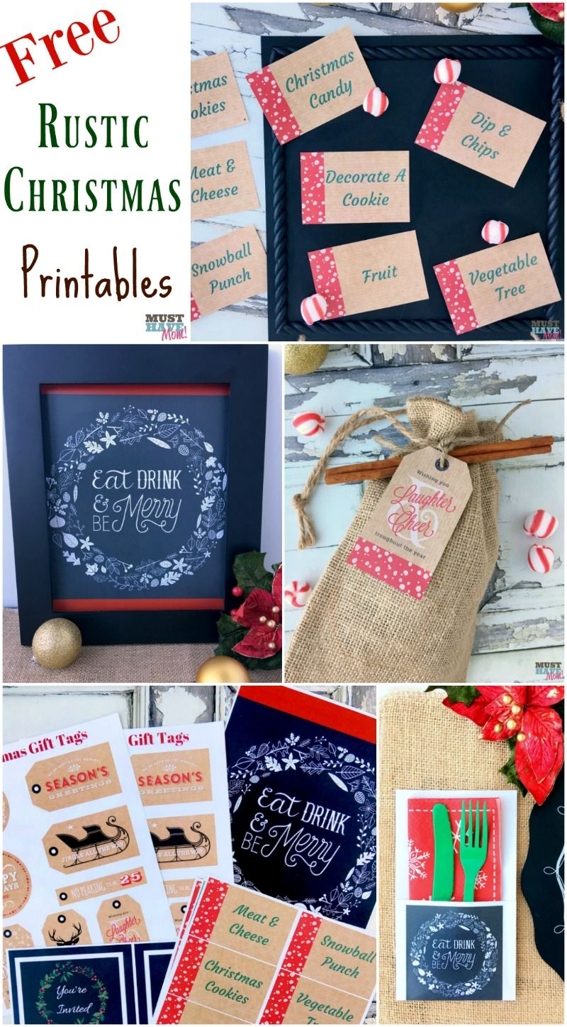 Free Rustic Christmas Party Printables Printables By Kat Balogger