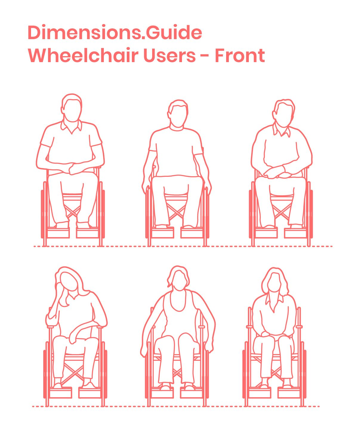 Wheelchair Users Front Wheelchair Vector Illustration Character Wheelchair Users
