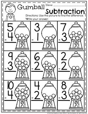 Subtraction Worksheets | Math | Pinterest | Deutsch und Kind