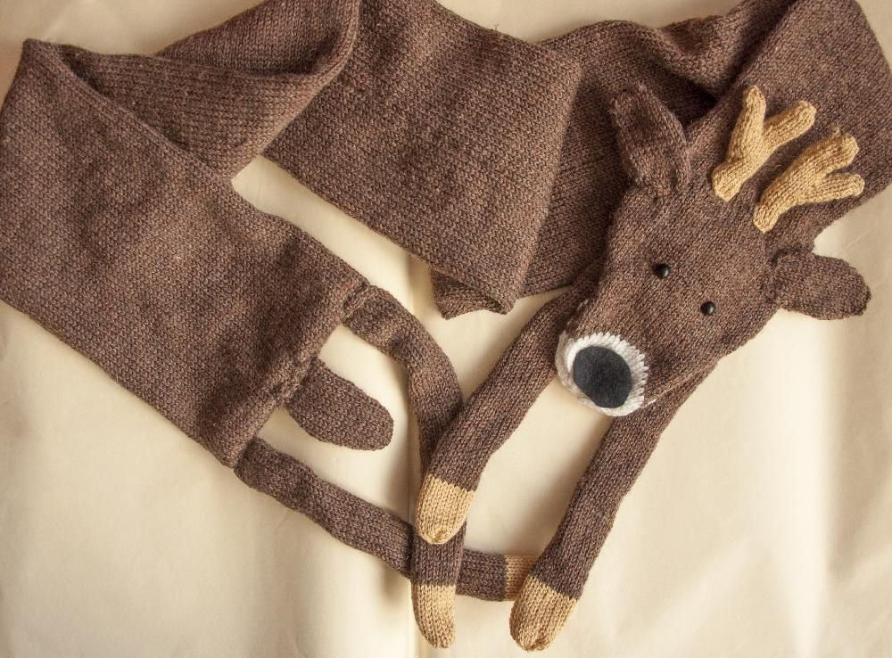 Faux Deer Scarf Knitting Patterns Crochet And Patterns