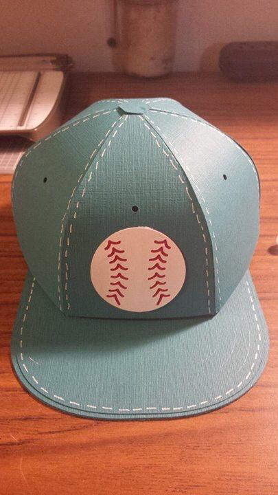 Svgcuts Com Baseball Cap Gift Box Svgfiles Gift Box Template Scrapbook Box Baseball Cap