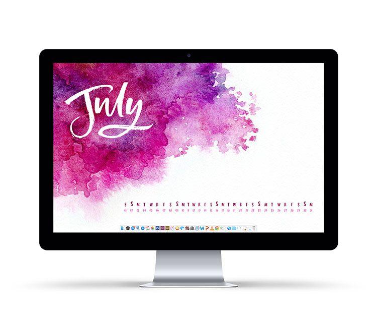 Freebie July 2017 Desktop Wallpapers Wallpaper and Calendar wallpaper