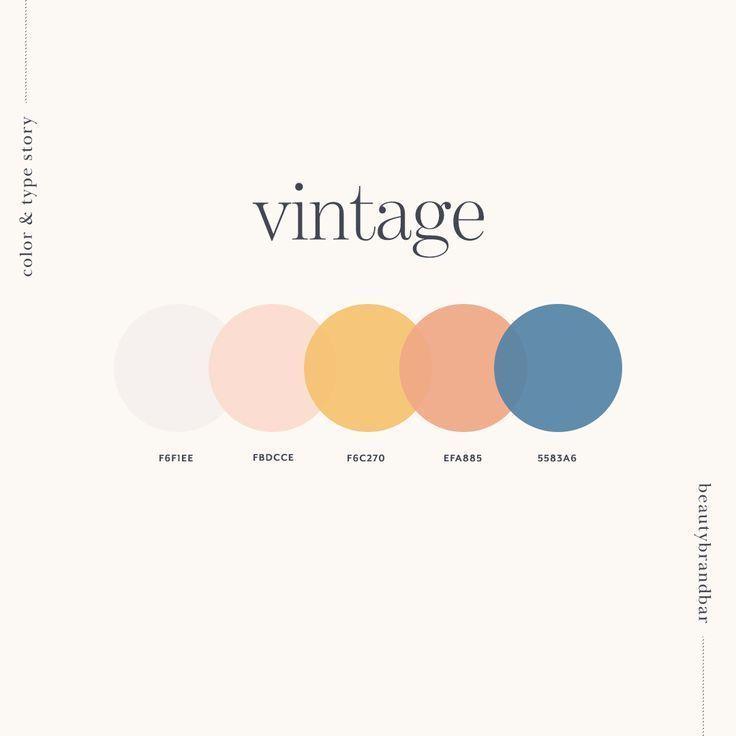 Photo of Vintage Color P… – #Color #farbpalette #Vintage