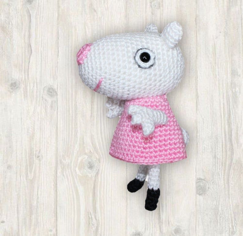 Suzy Sheep Crochet Pattern Amigurumi Sheep Crochet Peppa