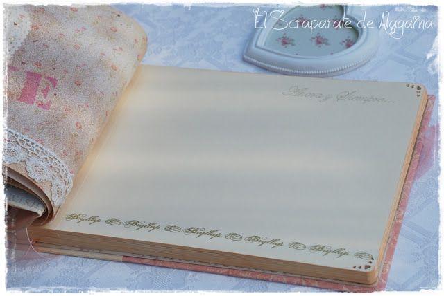 El Scraparate de Alagaina: Libro de firmas para una boda