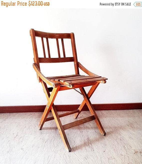 Bon SALE Antique Folding Wood Childu0027s Chair, Italian Art Deco Style Childu0027s  Chair , Wood Primitive