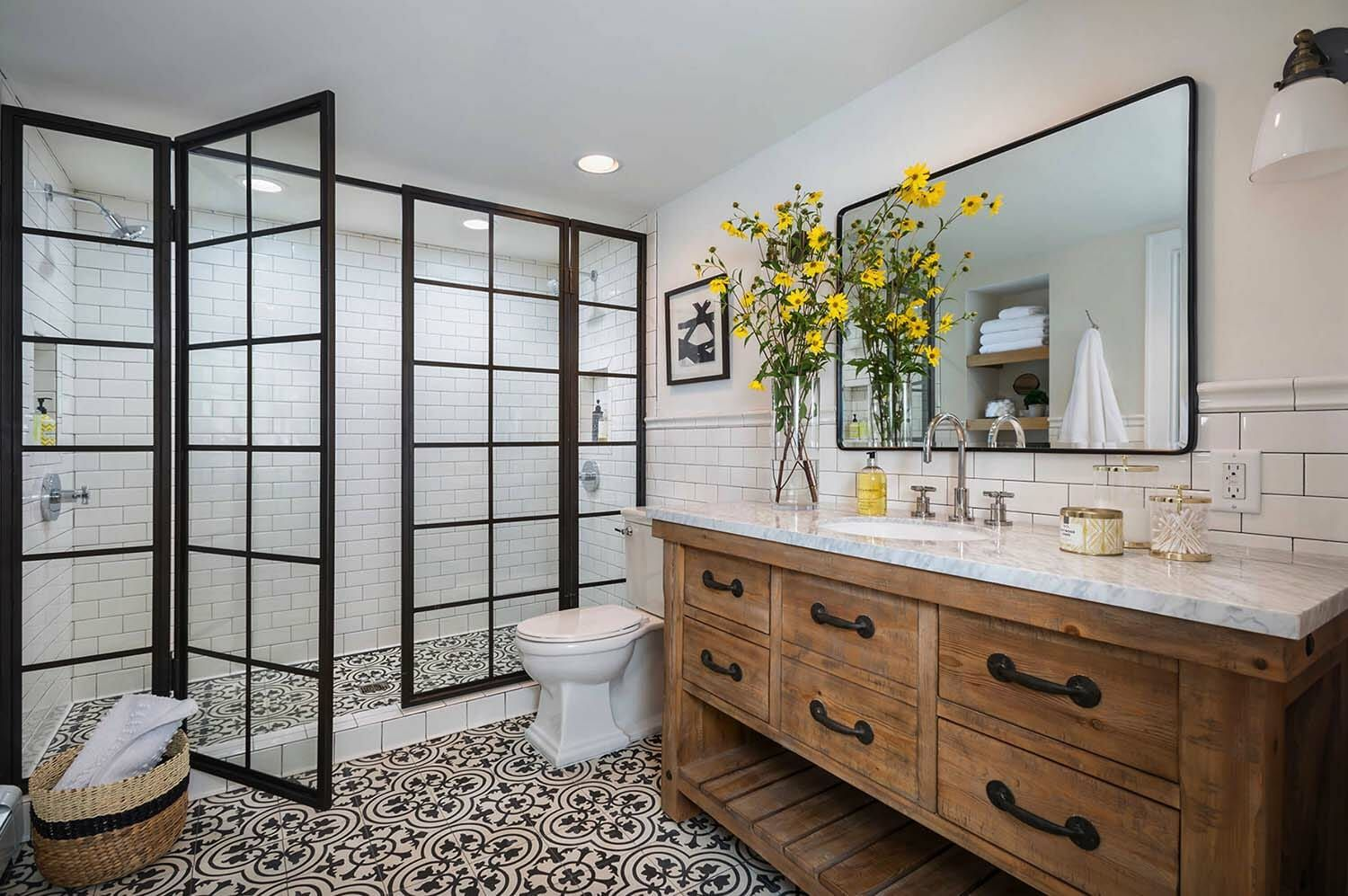 25 incredibly stylish black and white bathroom ideas to inspire rh pinterest com