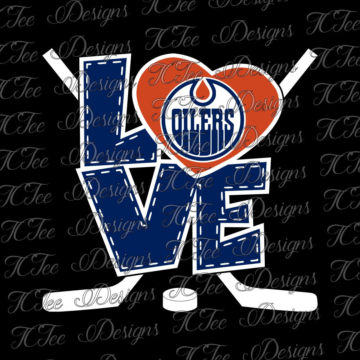 Love Edmonton Oilers - Hockey SVG File - Vector Design Download - Cut File by TCTeeDesigns on Etsy