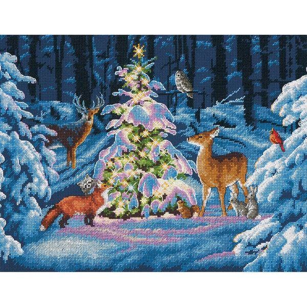 Woodland Cross Stitch Tree Skirt