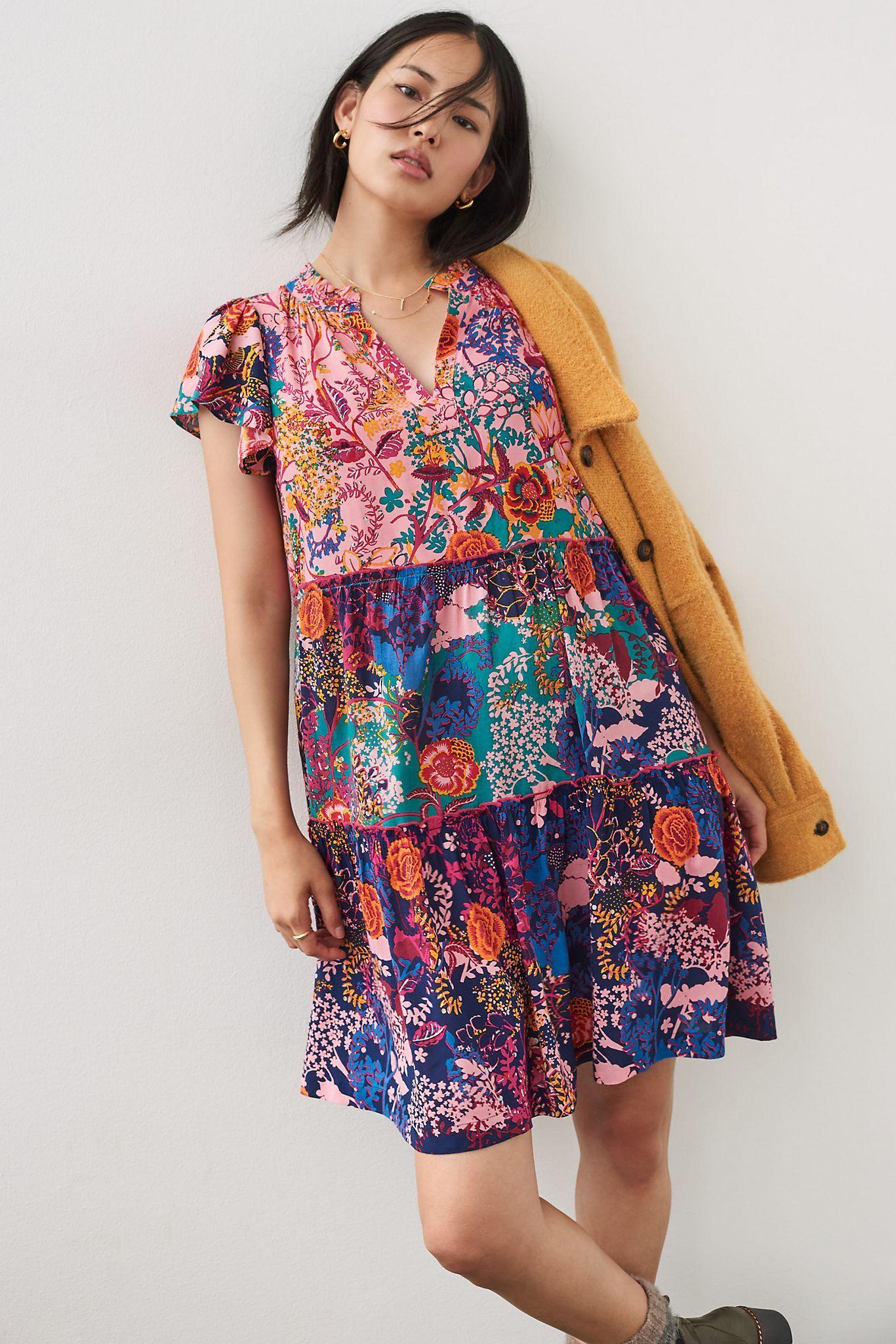 Penrose Tiered Tunic Dress Tunic Dress Dresses Wide Leg Jumpsuit [ 2049 x 1366 Pixel ]