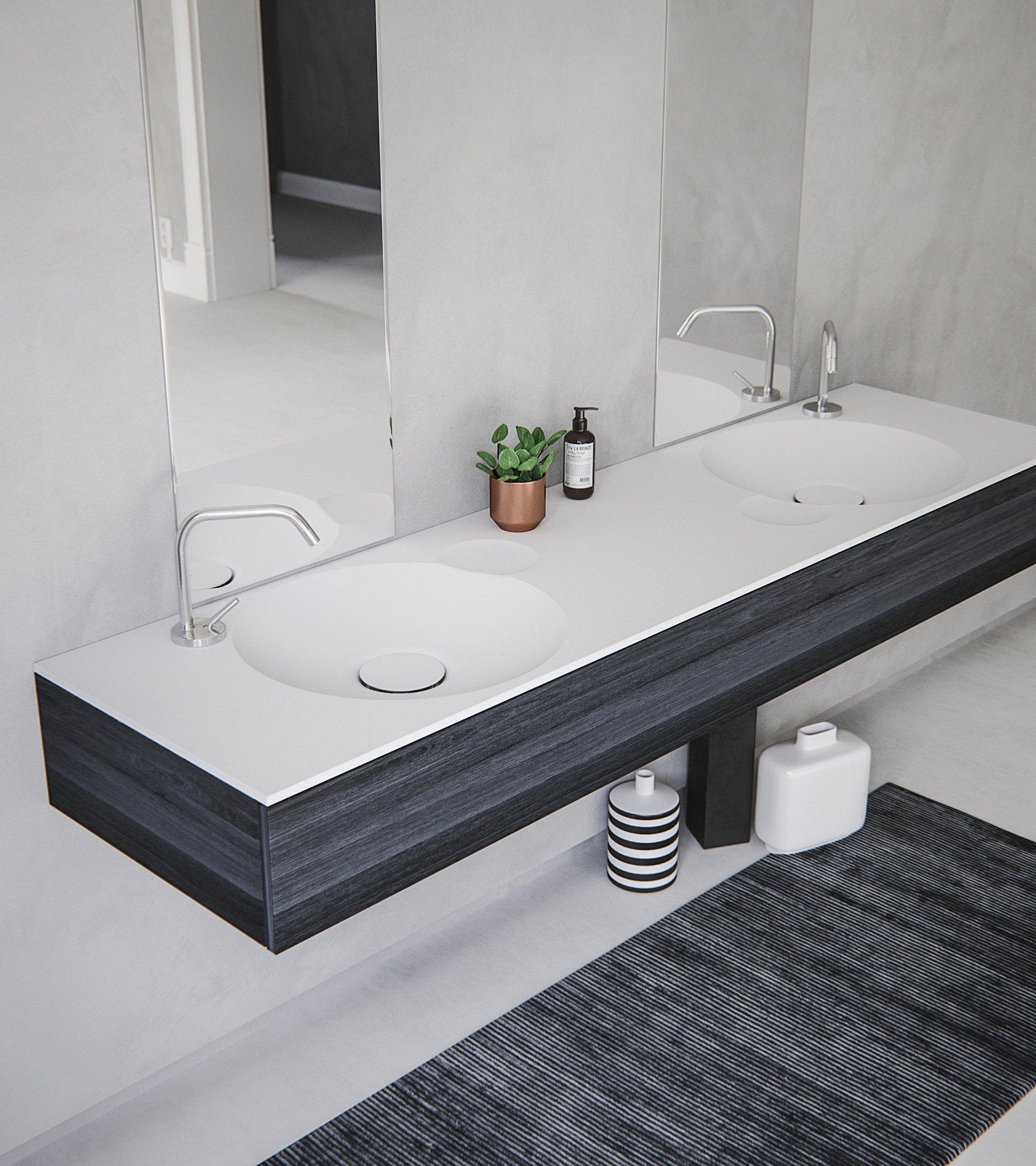 Erosion 02 Dual Contemporary Bathroom Sinks Minimalist Bathroom