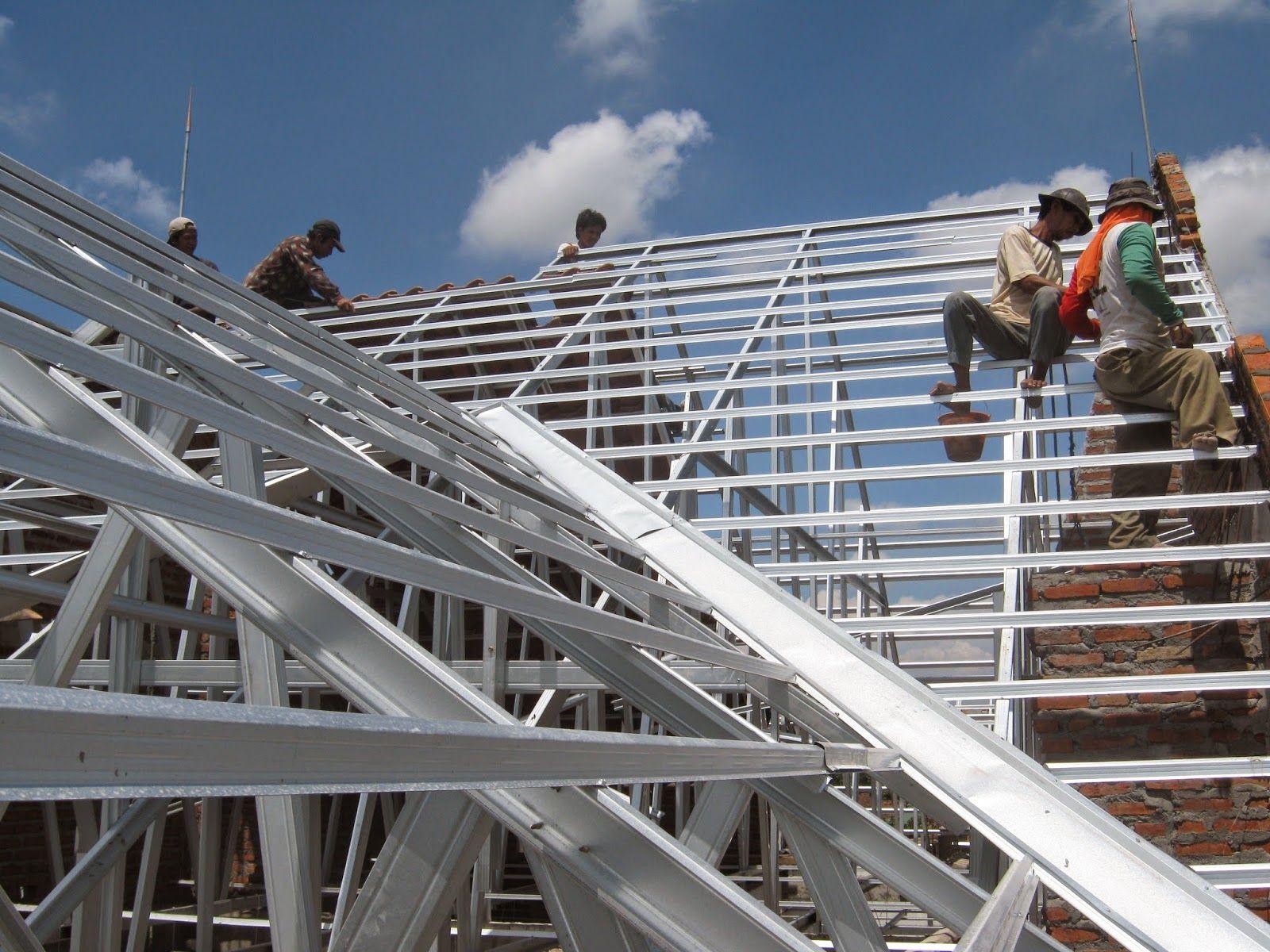 pemasangan atap baja ringan balikpapan pt satya mandiri sejahtera contractor finishing proyek rangka
