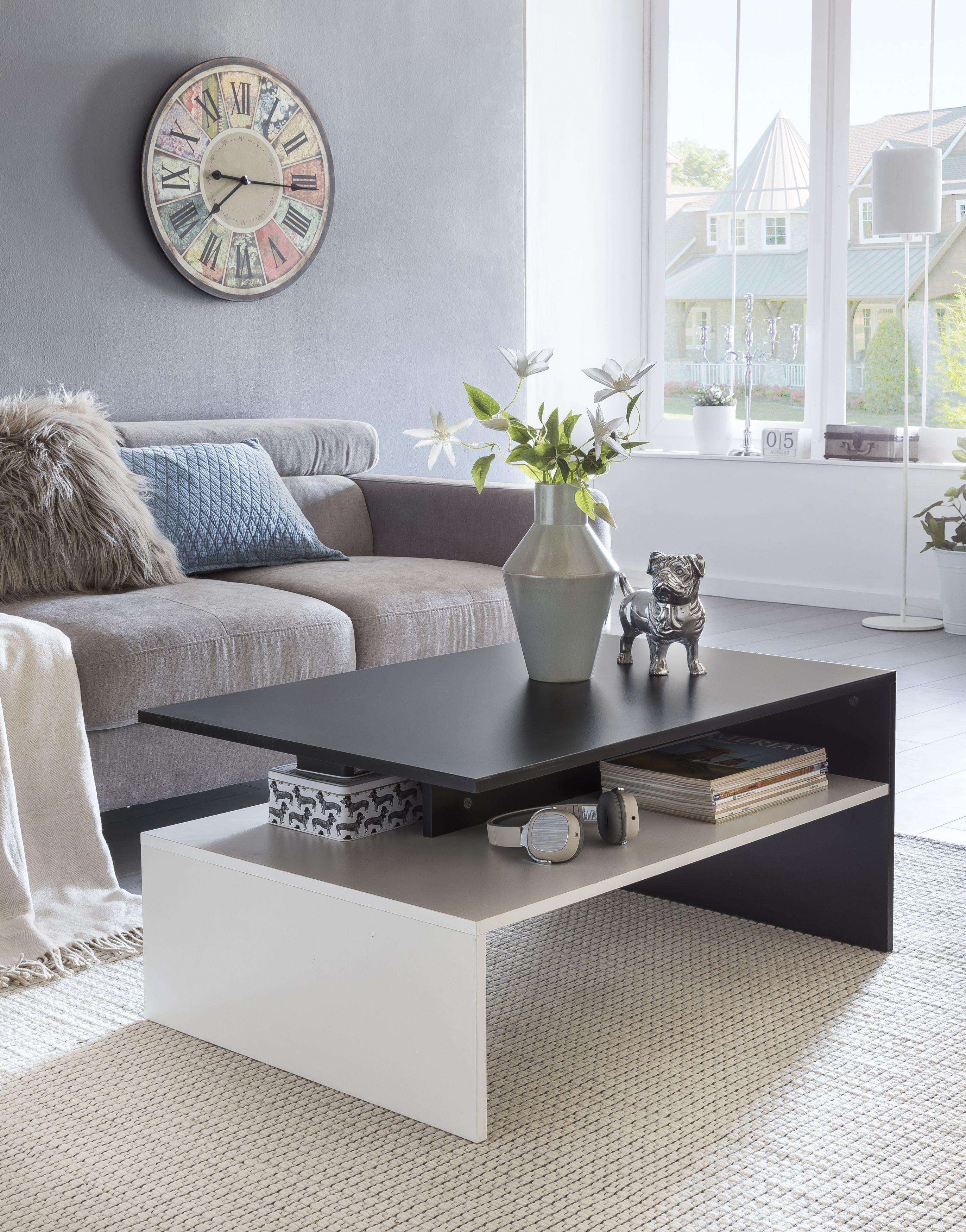Schwarz Weiss Beistelltisch Couch Ablagetisch Stubentisch Modern