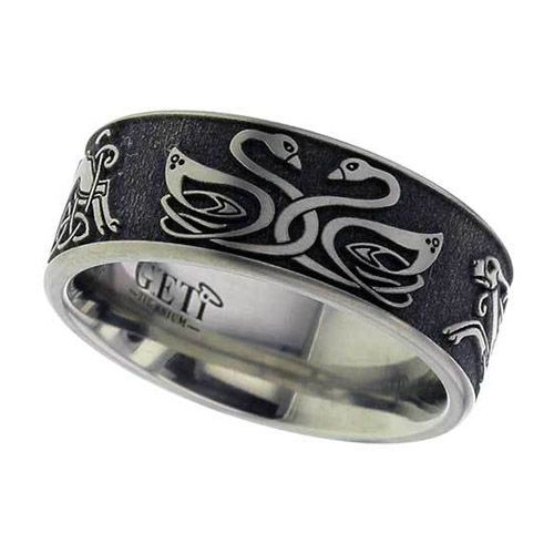 Celtic Swan Hound Anium Wedding Ring Rings Jewelry