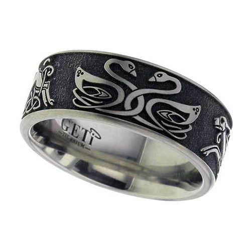 celtic swan amp celtic hound titanium wedding ring wedding