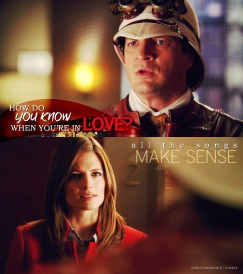 Castle How To Know Where You Re In Love All The Songs Make Sense Castle Tv Series When Youre In Love Castle Tv Shows