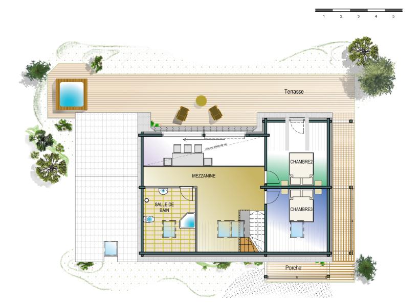 Honka Blockhaus Modell Esquibien Grundriss Obergeschoss