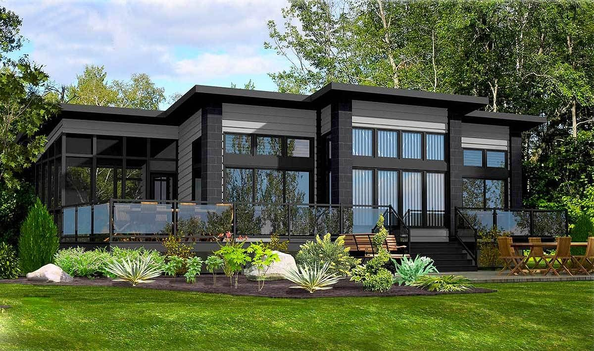 Plan pd contemporary retreat contemporary modern and