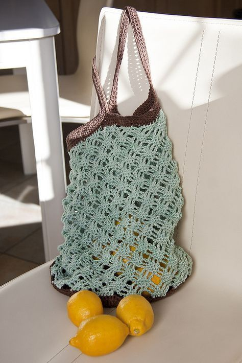 Mint Chocolate Market Bag Free Pattern By A Bag Full Of Crochet