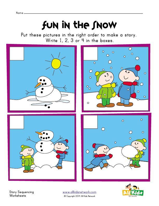 Sequencing Worksheet Snowman Kids Learning Station Sequencing Worksheets Sequencing Pictures Sequencing Activities Kindergarten Snowman sequencing worksheet free