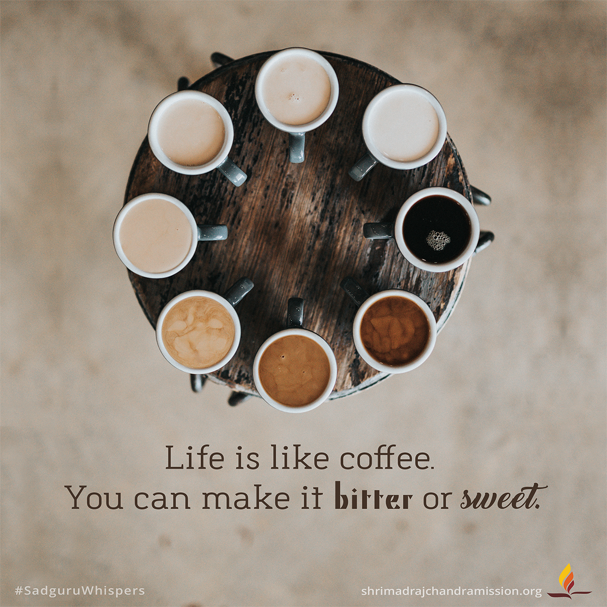 Life Is Like Coffee You Can Make It Bitter Or Sweet Sadguruwhispers Quotes Qotd Life Lifequotes T Coffee Quotes Coffee Quotes Funny Funny Coffee Quotes