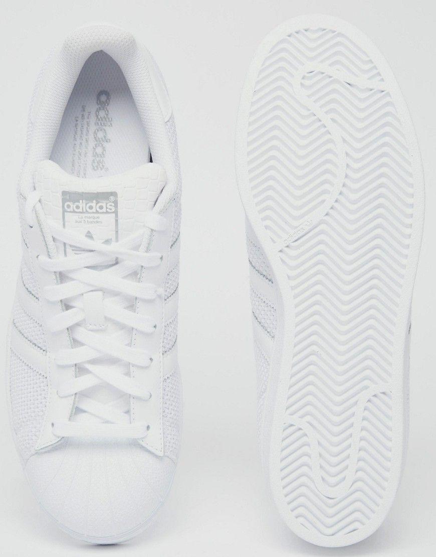 immagine 3 dell'adidas superstar formatori in bianco s75962 originali.