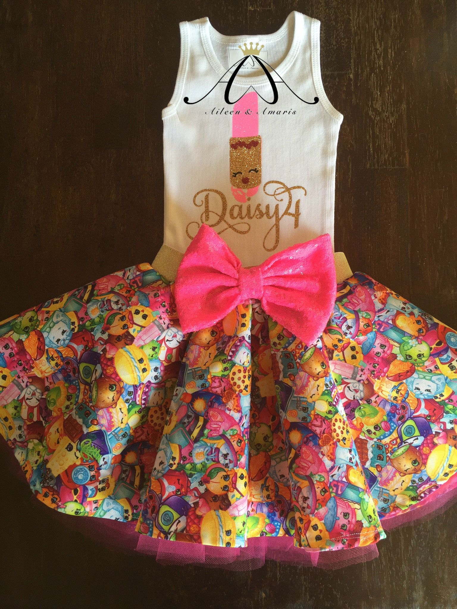 Twirl Skirt Made From SHOPKINS Fabric | Shopkins Headpieces And Birthdays