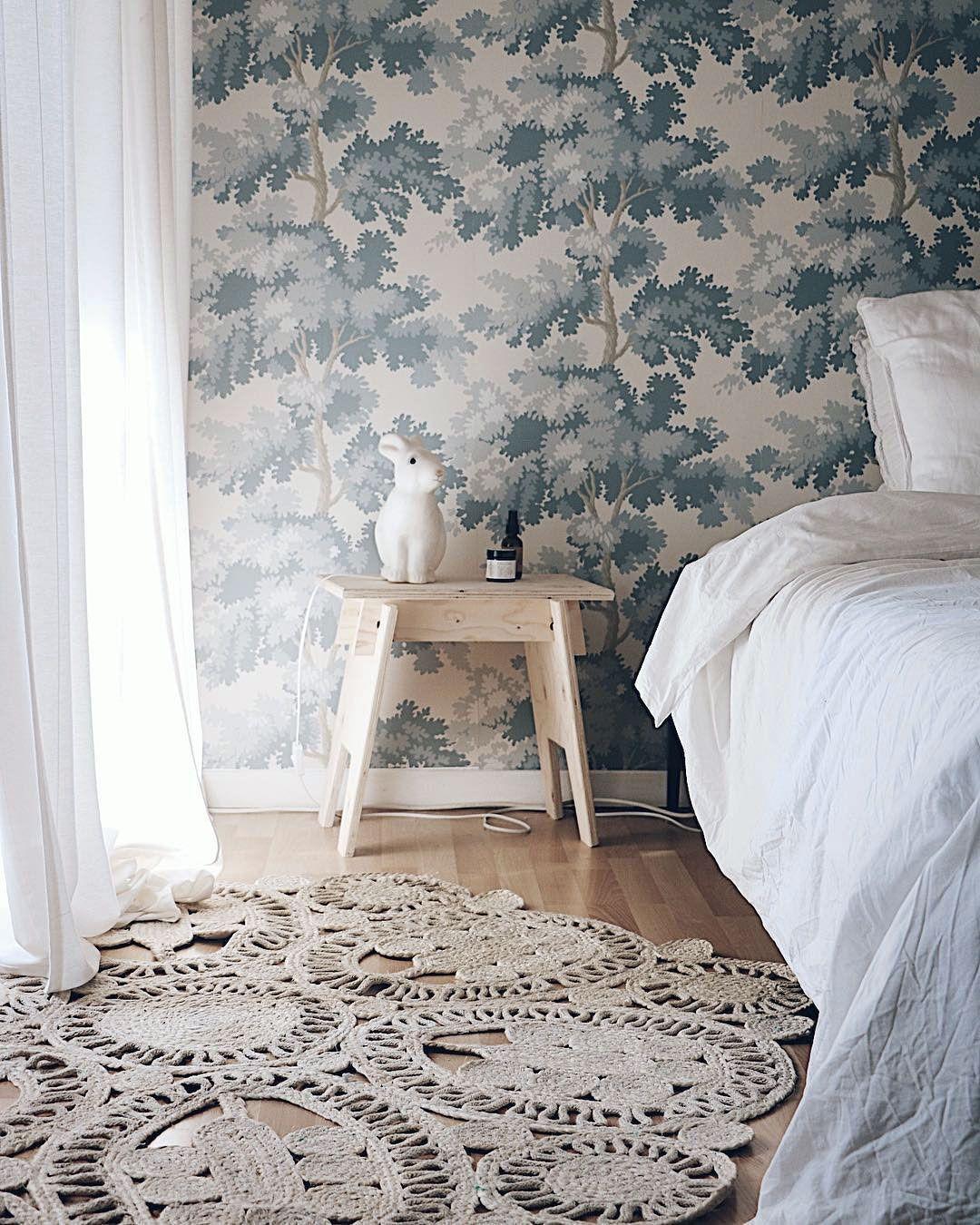 Papier Peint Aux Arbres Bleus Raphael Papier Peint Chambre Bebe