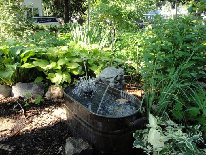 Home outdoor decoration ideas garden design with small tenk water