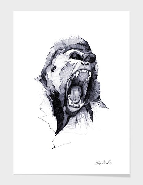 «Wild Rage» Art Print by Philipp Zurmöhle - Numbered Edition from $24.9 | Curioos