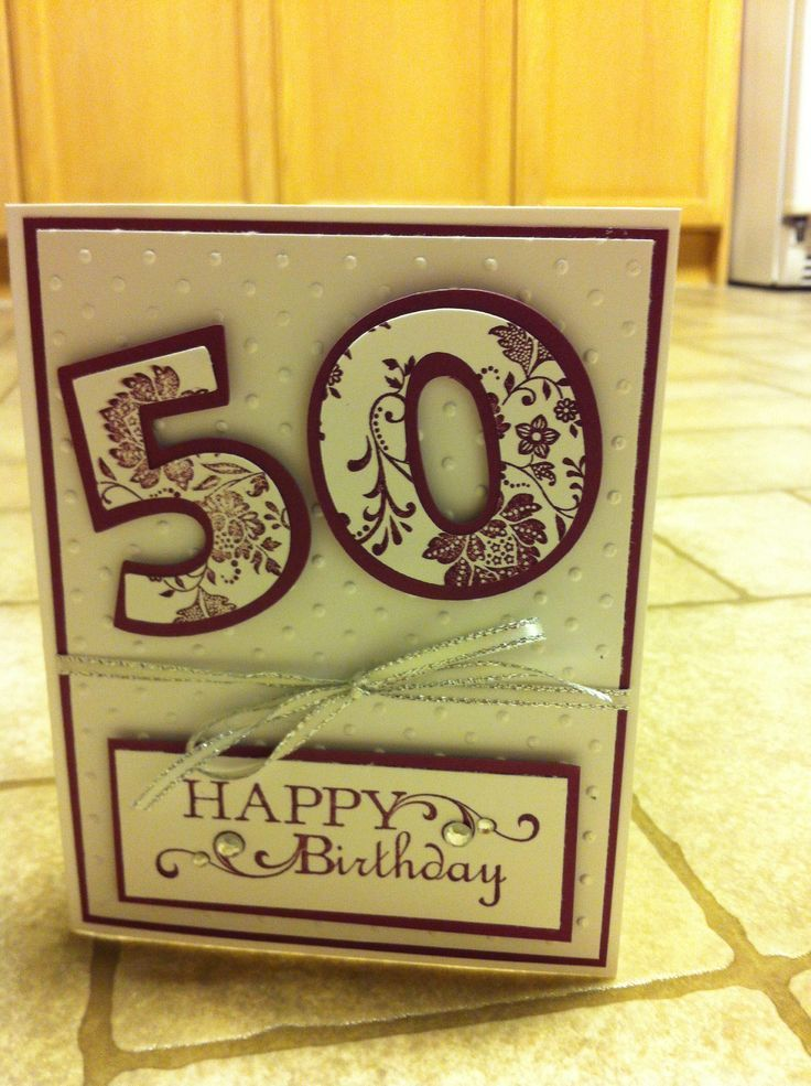 50th Birthday Card 1 Handmade Card Ideas Pinterest 50th