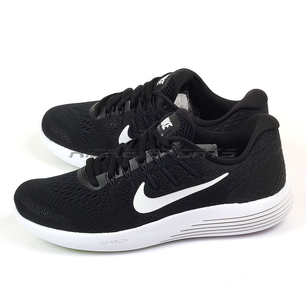 eaa8568e515 Nike Wmns Lunarglide 8 Black White-Anthracite Training Running Shoes 843726- 001
