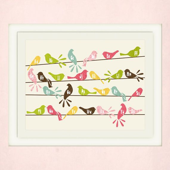 Brown Songbird  Letters