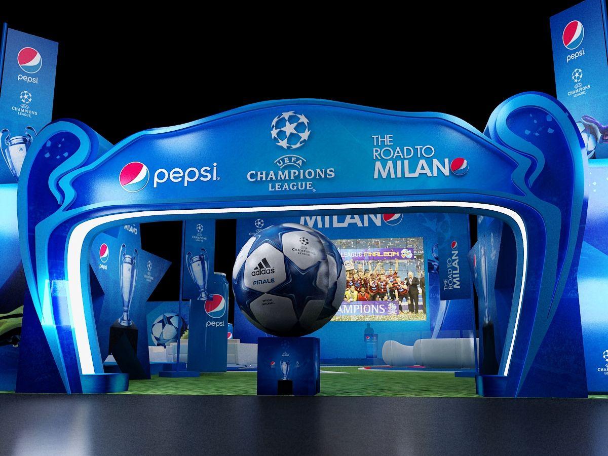 Pepsi Event On Behance Event Entrance Design Exhibition Booth Design Pepsi