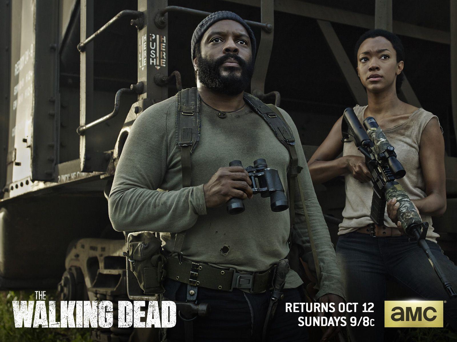 Tyrese Sasha Season 5 Wallpaper Walking Dead Season Fear The